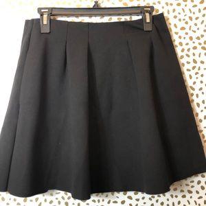 MADEWELL black pleated mini skirt SZ 2